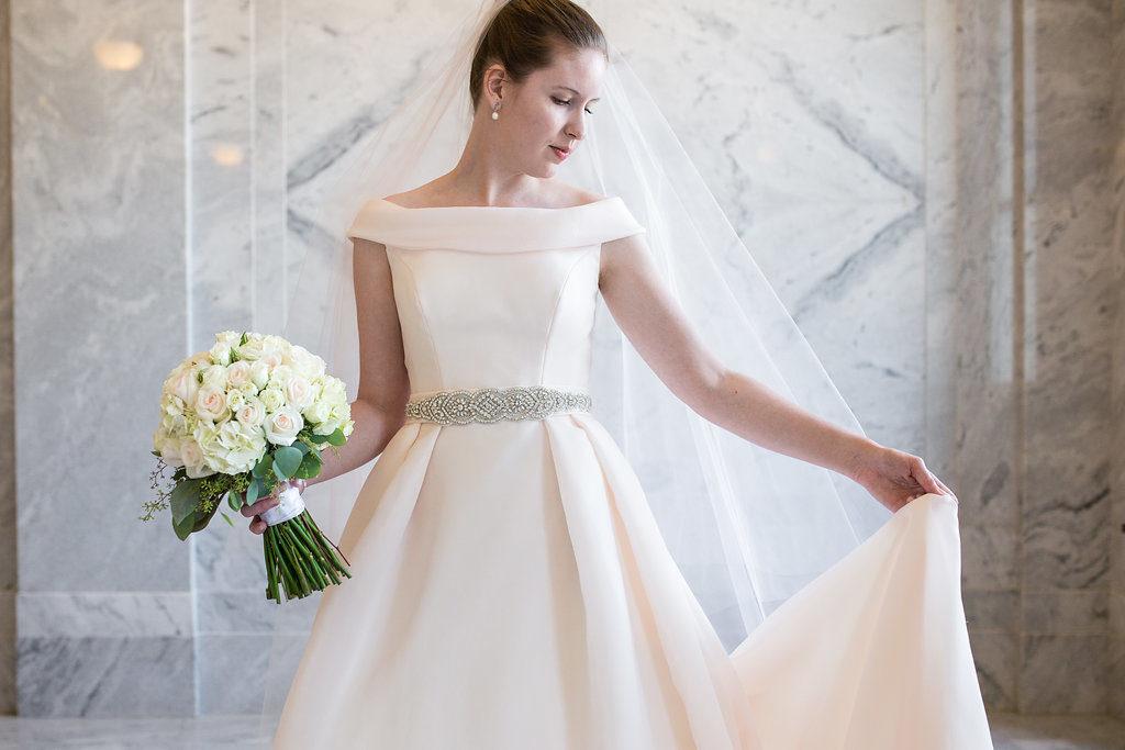 blush ballgown