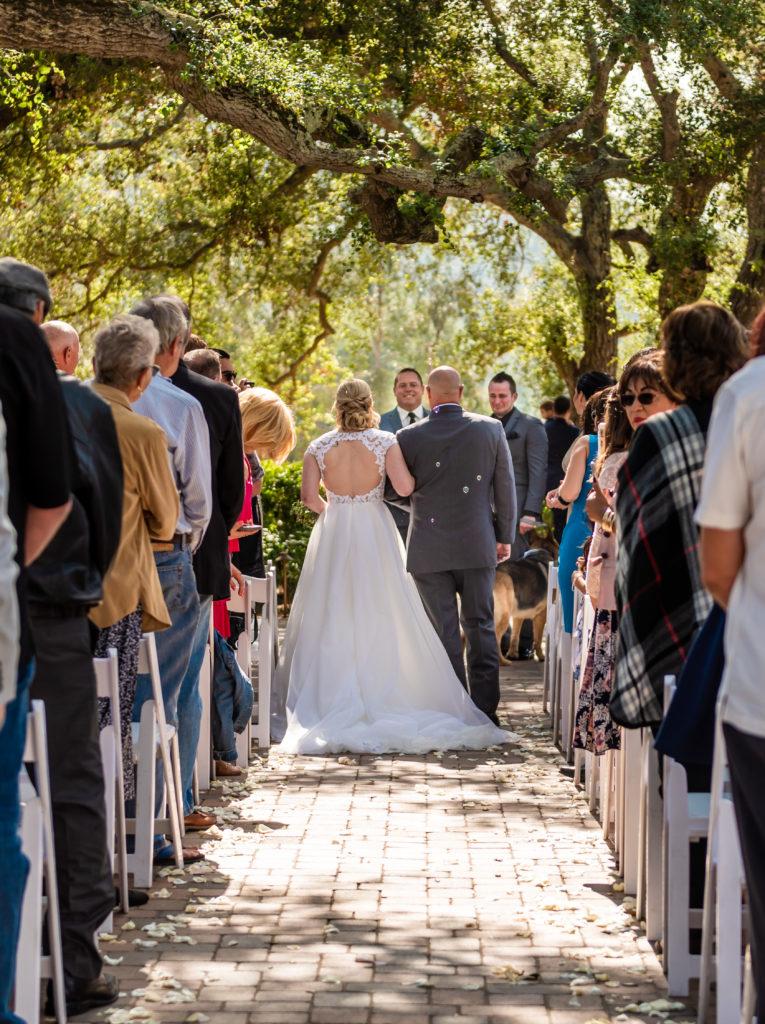 keyhole back wedding gown