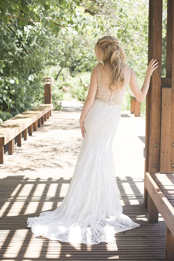 lacey beaded wedding dress